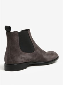 Sivé pánske semišové chelsea topánky Vagabond Harvey