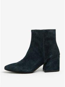 Petrolejové dámské semišové kotníkové boty na podpatku Vagabond Olivia