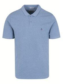Modré slim fit polo tričko s krátkým rukávem Original Penguin Raised Rib