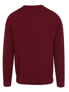 Pulover bordo din bumbac cu maneci raglan - Original Penguin Honey Comb