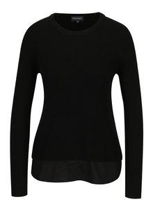 Bluza neagra cu terminatie inferioara de camasa - Broadway Natalina