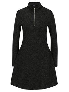 Tmavosivé melírované svetrové šaty Broadway Ormonde