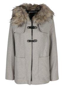 Světle šedý dámský krátký kabát s příměsí vlny Broadway Noomie