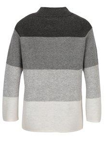 Sivý pruhovaný sveter Broadway Oxama