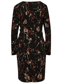 Čierne vzorované šaty s prekladaným výstrihom Smashed Lemon