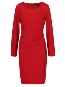 Červené šaty s dlhým rukávom Smashed Lemon