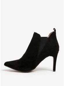 Čierne topánky v semišovej úprave na podpätku Dorothy Perkins