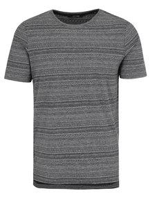 Černo-šedé vzorované tričko ONLY & SONS Marshall