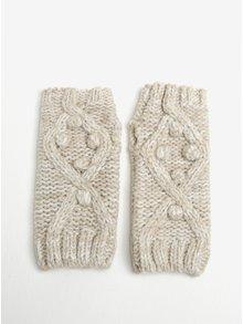 Béžové pletené rukavice bez prstů Dorothy Perkins
