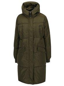 Zelený dámsky prešívaný kabát s kapucňou Broadway Ohiyo