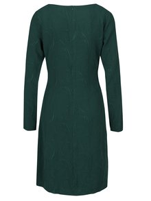 Tmavě zelené šaty s překládaným výstřihem Smashed Lemon