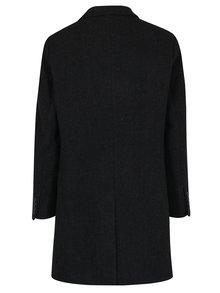 Palton negru din amestec de lana pentru barbati - Broadway Ovtave
