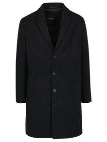 Čierny pánsky kabát s prímesou vlny Broadway Ovtave