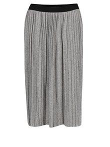 Šedá žíhaná plisovaná midi sukně Broadway Novalee