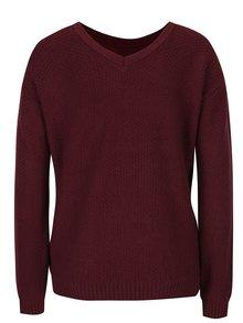 Vínový sveter s jemným vzorom Dorothy Perkins