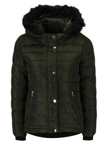 Tmavozelená prešívaná zimná bunda Dorothy Perkins Petite