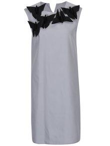 Sivé šaty s odnímateľnou aplikáciou v tvare motýľov Rad Playground