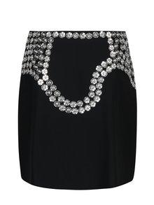 Černá vlněná sukně s kovovou aplikací Rad Playground