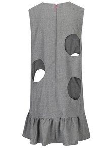 Tmavě šedé vlněné šaty s průstřihy Rad Playground