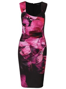 Rochie cu print floral si pliuri laterale Scarlett B