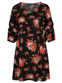 Rochie neagra cu print floral Dorothy Perkins Curve