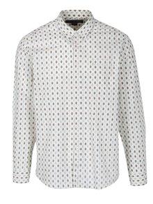 Krémová vzorovaná košeľa Merc