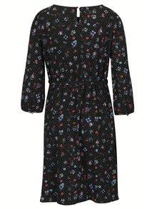 Čierne kvetované tehotenské šaty Dorothy Prkins Maternity