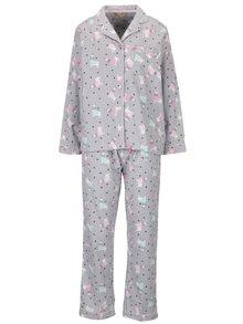 Šedé vzorované pyžamo s motivem lamy Dorothy Perkins