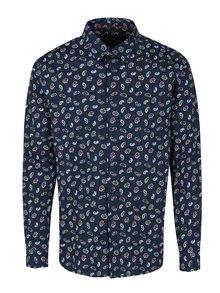 Tmavomodrá vzorovaná košeľa Merc