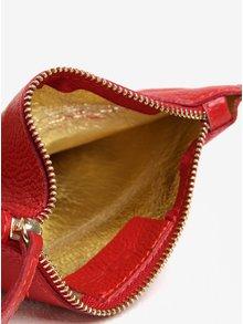 Geanta pentru cosmetice rosie din piele naturala - ZOOT