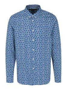 Modrá vzorovaná košeľa Merc