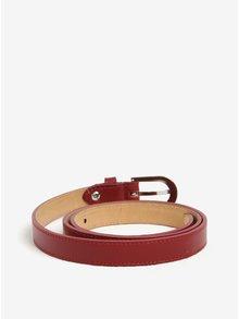 Červený kožený úzký pásek ZOOT