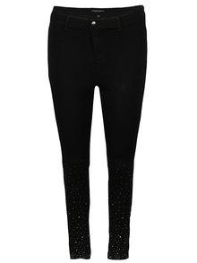 Černé skinny džíny s vysokým pasem a kamínky Dorothy Perkins Curve