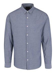 Modrošedá puntíkovaná slim košile ONLY & SONS Bernhard