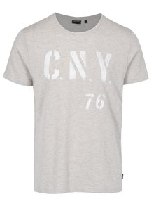 Béžové žíhané pánské tričko s krátkým rukávem Broadway Bennie