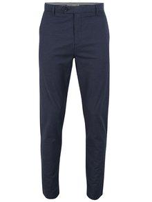 Modré vzorované kalhoty Burton Menswear London