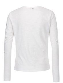 Krémové tričko s aplikací Rich & Royal