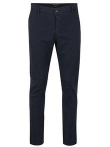 Tmavě modré pánské chino kalhoty Broadway Wayne