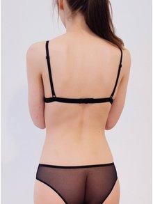 Sutien negru translucid cu bretele ajustabile - NALU Underwear