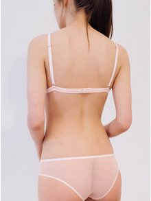 Sutien roz pal translucid cu bretele ajustabile - NALU Underwear