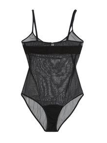 Černé průsvitné body Nalu Underwear