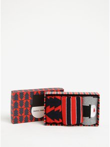 Set cadou de 3 perechi de sosete cu model de Craciun Jack & Jones Gift Box