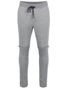 Pantaloni sport cu fermoare Jack & Jones Core Bone