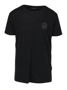 Černé pánské tričko s krátkým rukávem Broadway Rance