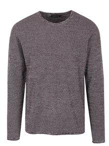 Vínový melírovaný sveter Jack & Jones Originals Flex
