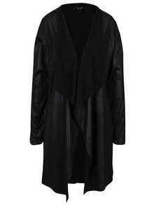 Černý koženkový cardigan Yest
