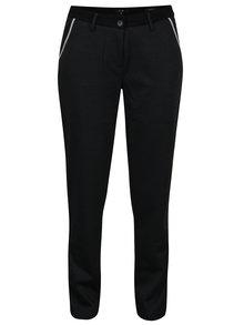 Tmavosivé vzorované regular fit nohavice Yest