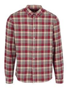 Béžovo-červená pánská kostkovaná košile Broadway Patsy