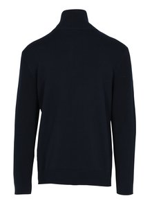 Tmavomodrý pánsky sveter so zipsom Broadway Pear