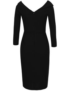Čierne puzdrové šaty s uzlom v dekolte ZOOT
